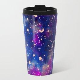 Zodiac - Watercolor Dark Travel Mug