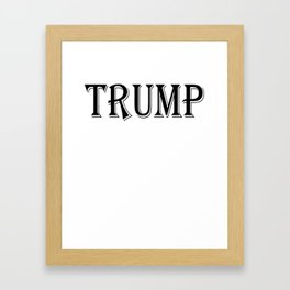 Trump Costume For Halloween Design Framed Art Print
