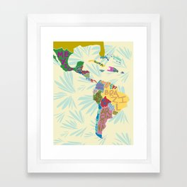 Map. Mapa. Carte. Framed Art Print