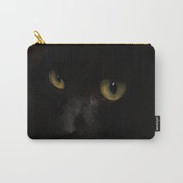 Black cat with yellow eyes Carry-All Pouch