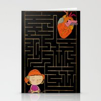 labyrinth Stationery Cards featuring labyrinth by Christina Tsevis