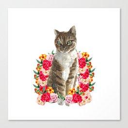 floral cat furniture Design by diegoramonart Canvas Print