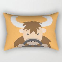Yak Driving Rectangular Pillow