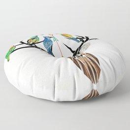 deer birds Floor Pillow
