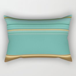 sea and sand minimal striped pattern Rectangular Pillow