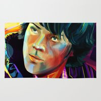 sam winchester Area & Throw Rugs featuring Sam Winchester in Color by thefluidlines