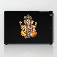 ganesh iPad Cases featuring  Ganesh by yume