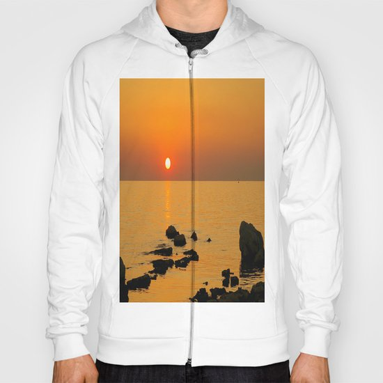 evening beach Hoody