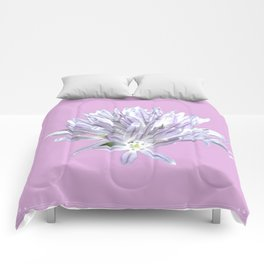 Flower | Pink Chive Floral | Nadia Bonello Comforters