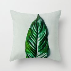 Green Leaf 1 Throw Pillow