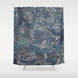 Under the surface lies the truth. Shower Curtain