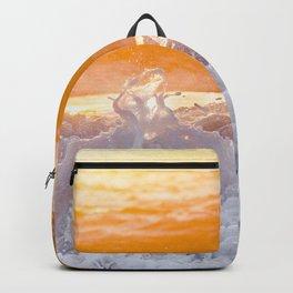 Orange Sunrise Splash Backpack
