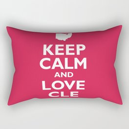 Keep Calm and Love CLE Rectangular Pillow