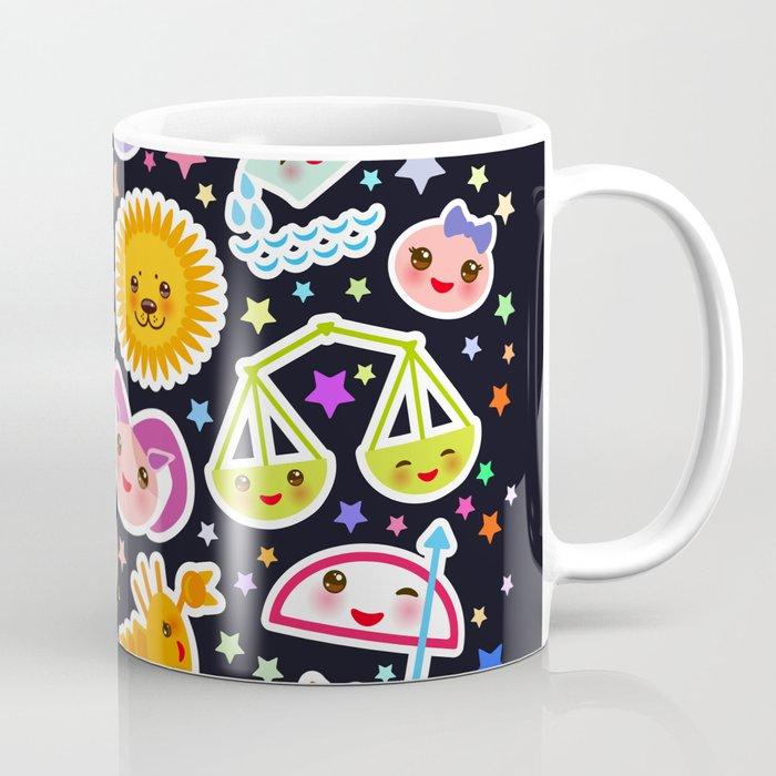 Aries, Taurus, Gemini, Cancer, Leo, Virgo, Libra, Scorpio, Sagittarius,  Capricorn, Aquarius Pisces Coffee Mug by ekaterinap