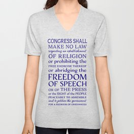 Defend Your Freedom of Speech Unisex V-Neck