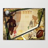 football Canvas Prints featuring Football by Robin Curtiss