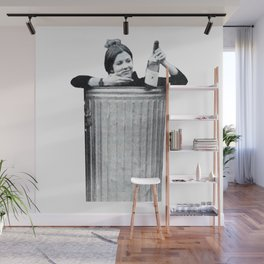 Carrie Fisher in a Trashcan Wall Mural