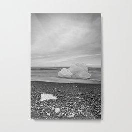 Grey Ice Metal Print
