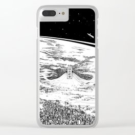 Space upon us Clear iPhone Case
