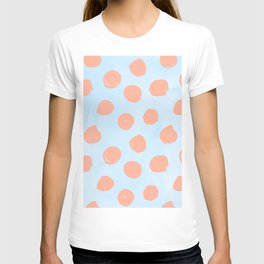 Sweet Life Dots Peach Coral Pink + Blue Raspberry T-shirt