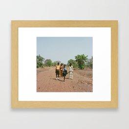 Walk home- Ghana Framed Art Print