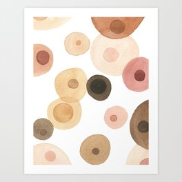 Abstract Boobs Art Print