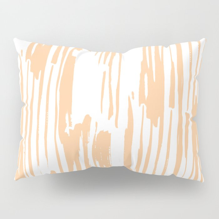 Modern Coral Stripes IV Pillow Sham