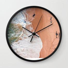 Surf Footprints Wall Clock