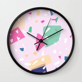 Paper pieces Wall Clock