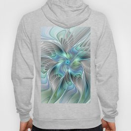 Abstract Butterfly, Fantasy Fractal Art Hoody