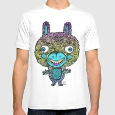 Bunny Mens Fitted Tee MEDIUM White