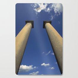 Columns Under Sky Cutting Board