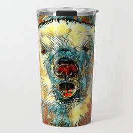 AnimalArt_Polarbear_20180102_by_JAMColors Travel Mug