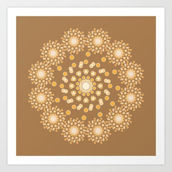 Atom B4 - Brown Art Print