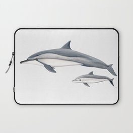 Long-beaked dolphin and baby Laptop Sleeve