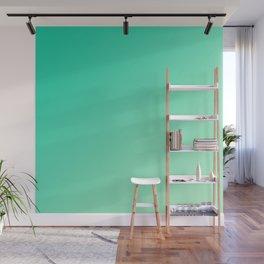 Dark Cyan Green and Light Cyan lime Green Gradient Ombré  Wall Mural
