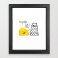 Cheesy Couple Framed Art Print