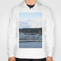 vancouver Hoodies featuring Vancouver Harbour by RMK Creative