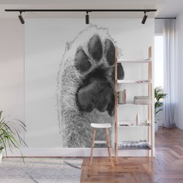 Black and White Dog Paw Wall Mural