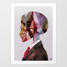 Red Tie Art Print