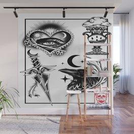 Noir Reflection flash Wall Mural