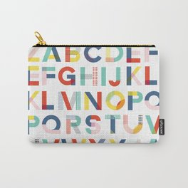 Modern Alphabet Print Carry-All Pouch