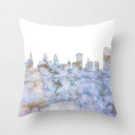 Buffalo New York Skyline Throw Pillow