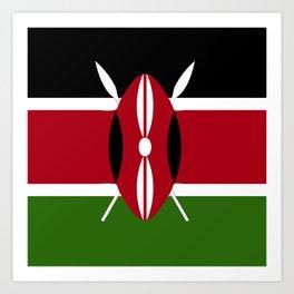 Kenya flag emblem Art Print