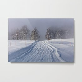 Yellowstone National Park - Road to Mud Volcano Metal Print