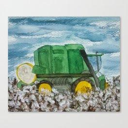 Cotton Picker Canvas Print