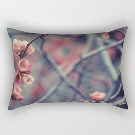 Flowering Quince Rectangular Pillow