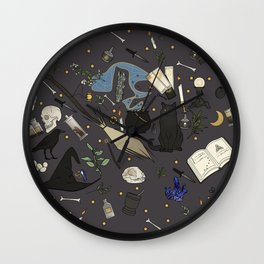 Witch's things Wall Clock
