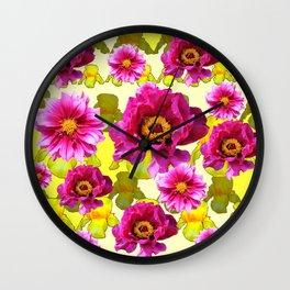 SPRING FLOWERS ART Wall Clock