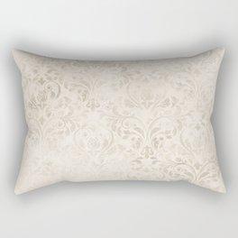Elegant Ivory Damask 2 Rectangular Pillow